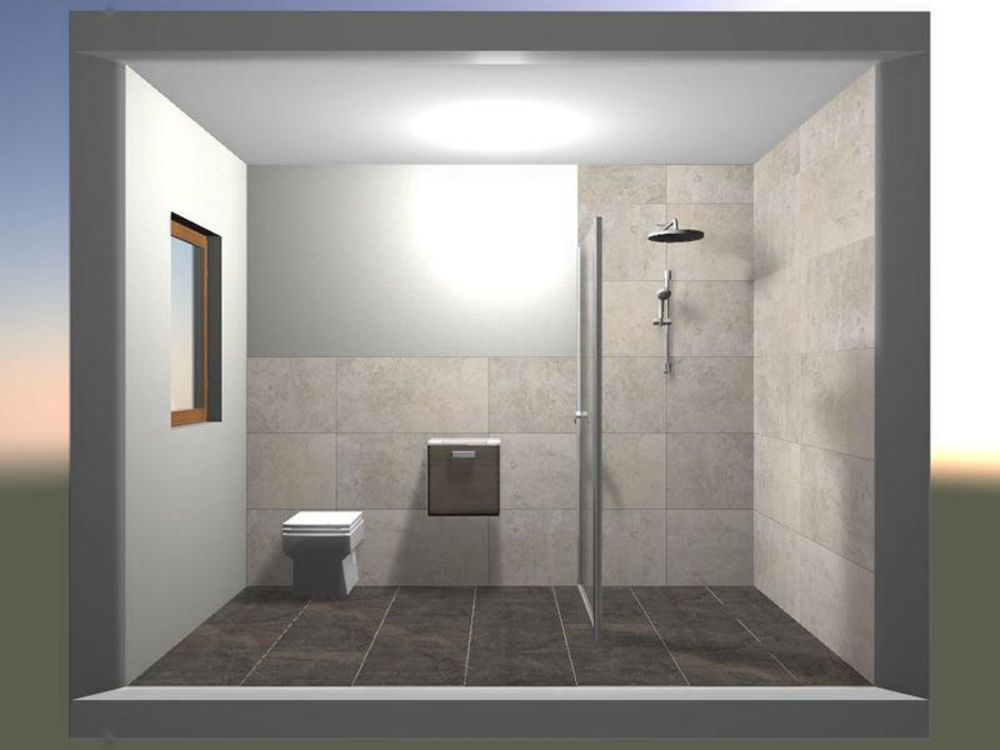 lowEin Bad in Natursteinoptik ist exklusiv und pflegeleicht